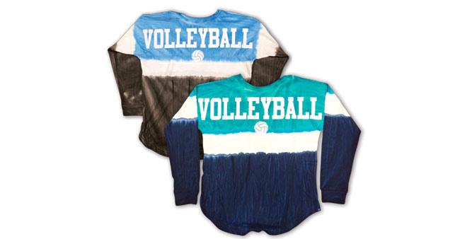 Volleyball Tie-Dye Billboard Shirts
